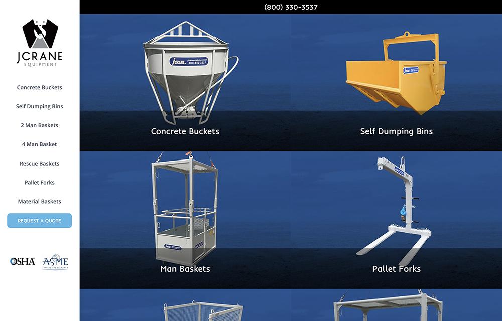 Jcrane Equipment Website | Welborn Creative