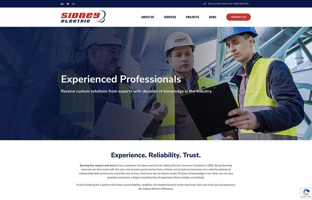 Sidney Electric Website | Welborn Creative