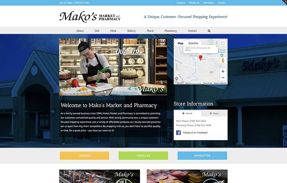 Mako's Market Website | Welborn Creative