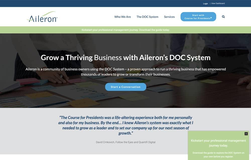 Aileron Website | Welborn Creative